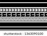 tattoo tribal polynesian... | Shutterstock .eps vector #1363090100