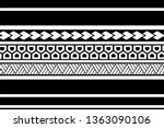 tribal pattern tattoo ... | Shutterstock .eps vector #1363090106