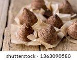 homemade tasty chocolate... | Shutterstock . vector #1363090580