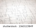 complicated house floor plan... | Shutterstock .eps vector #1363115849