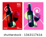 idea for wine event.... | Shutterstock .eps vector #1363117616