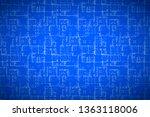 complicated white house floor... | Shutterstock .eps vector #1363118006