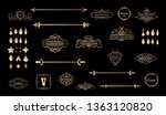 gold vintage decor elements and ... | Shutterstock .eps vector #1363120820