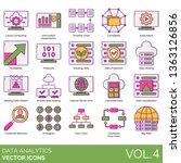 data analytics icons including... | Shutterstock .eps vector #1363126856