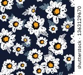 seamless pattern with flowers... | Shutterstock .eps vector #1363129670