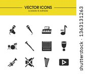music icons set with mute ...