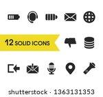 user icons set with language ...