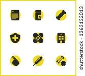 medical icons set with syringe  ...