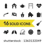 lifestyle icons set with puzzle ...