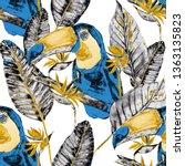 watercolor seamless pattern... | Shutterstock . vector #1363135823