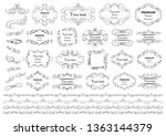 calligraphic design elements .... | Shutterstock .eps vector #1363144379