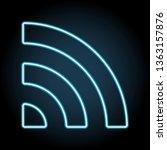 signal neon icon. simple thin...