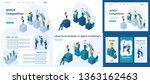 set template article  landing... | Shutterstock .eps vector #1363162463
