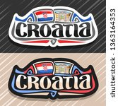 logo for croatia country ... | Shutterstock . vector #1363164353