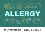 allergy word concepts banner....