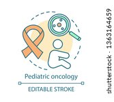pediatric oncology concept icon.... | Shutterstock .eps vector #1363164659