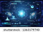 abstract technology ui... | Shutterstock .eps vector #1363179740