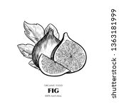 vector background with figs.... | Shutterstock .eps vector #1363181999
