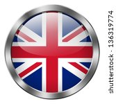 uk flag metal button | Shutterstock . vector #136319774