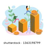 people run to their goal   the...   Shutterstock .eps vector #1363198799
