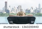 hotel stay relaxation of... | Shutterstock . vector #1363200443