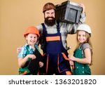 repairman in uniform.... | Shutterstock . vector #1363201820