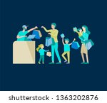collection of family hobby... | Shutterstock .eps vector #1363202876