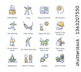 stress relievers icons  ... | Shutterstock .eps vector #1363207550