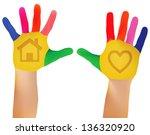 mesh vector eps   10 child... | Shutterstock .eps vector #136320920