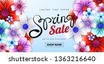 spring sale advertising text... | Shutterstock . vector #1363216640