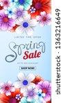 spring sale advertising text... | Shutterstock . vector #1363216649