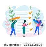job done  tasks scheduling ... | Shutterstock .eps vector #1363218806