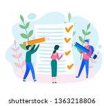 job done  tasks scheduling ...   Shutterstock .eps vector #1363218806