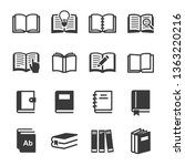 vector book icons set | Shutterstock .eps vector #1363220216
