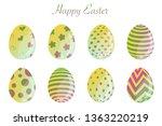 easter eggs set vector icon....   Shutterstock .eps vector #1363220219