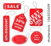 set of bright colourful sale... | Shutterstock .eps vector #1363223339