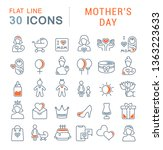 set of vector line icons of... | Shutterstock .eps vector #1363223633