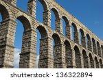 aqueduct in segovia | Shutterstock . vector #136322894