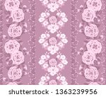 striped floral one tone pattern.... | Shutterstock .eps vector #1363239956