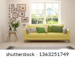 stylish room in white color... | Shutterstock . vector #1363251749
