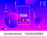 modern geometric background.... | Shutterstock .eps vector #1363263083