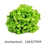 lettuce isolated on white... | Shutterstock . vector #136327049