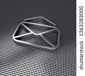 open envelope steel icon on...