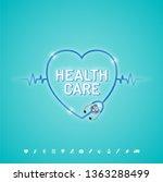 healthcare concept stethoscope... | Shutterstock .eps vector #1363288499