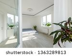 white bedroom with brick... | Shutterstock . vector #1363289813