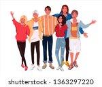 vector illustration group...   Shutterstock .eps vector #1363297220