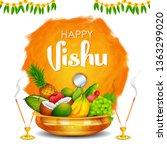 illustration of happy vishu new ... | Shutterstock .eps vector #1363299020
