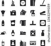 solid vector icon set   pipes...   Shutterstock .eps vector #1363299359