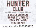 font alphabet script typeface... | Shutterstock .eps vector #1363303190