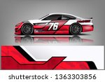car decal wrap design vector.... | Shutterstock .eps vector #1363303856